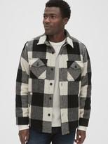 Cozy Wool-Blend Plaid Shirt Jacket