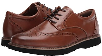 Deer Stags Walkmaster Wing Tip Oxford (Black) Men's Shoes