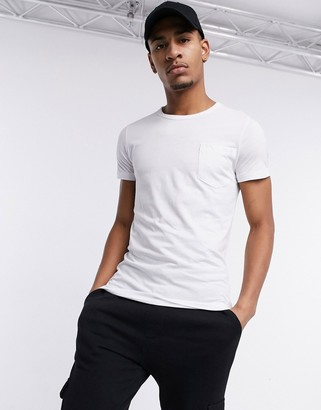 French Connection pocket t-shirt in white