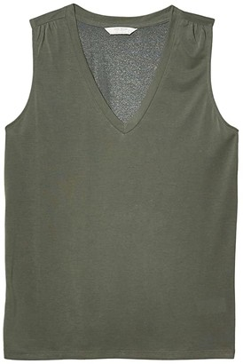 Lucky Brand V-Neck Sandwash Tank (Slate) Women's Clothing