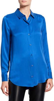 Equipment Essential Button-Down Long-Sleeve Silk Blouse