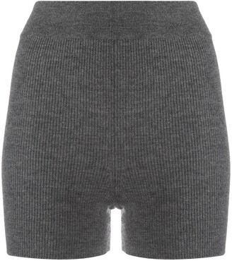 Cashmere In Love Ribbed-Knit Biker Shorts