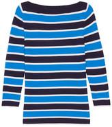 Michael Kors Striped Cashmere Sweater - Light blue