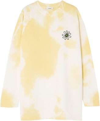 Ganni Appliqued Tie-dyed Cotton-jersey Sweatshirt