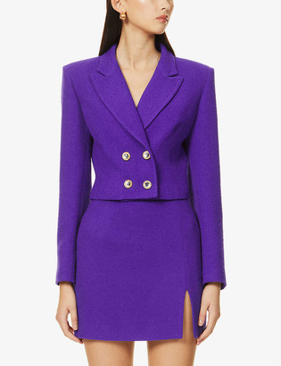 Alessandra Rich Double-breasted wool-blend blazer