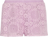Alexis Lini crocheted cotton shorts