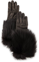 Portolano Napa Leather Gloves w/Fur Trim