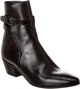 Saint Laurent West Jodhpur 40 Leather Bootie