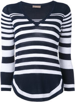 Cruciani cropped striped knitted top