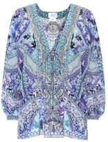 Camilla Embroidered silk top