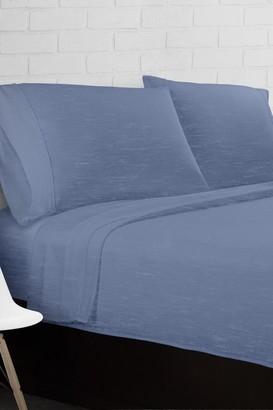 Ella Jayne Home Blue Heather Jersey Knit 3-Piece Twin Sheet Set