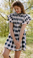 Thumbnail for your product : Sea Morgan Plaid Short Sleeve Smocked Tunic
