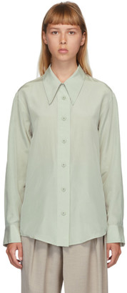 Low Classic Green Silk Shirt