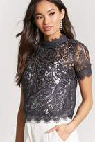 Forever 21 Eyelash Lace-Trim Top