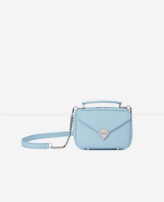 The Kooples Mini blue Barbara bag in grained leather