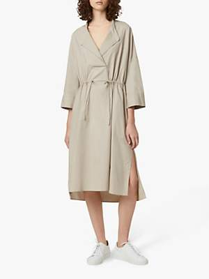 French Connection Adoni Cotton Poplin Shirt Dress, Cool Sand