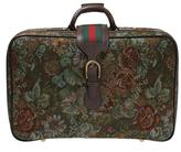 Gucci floral tapestry suitcase
