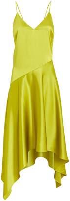 Fleur Du Mal Asymmetric Silk Slip Dress