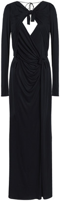 Emilio Pucci Knotted Wrap-effect Stretch-jersey Gown
