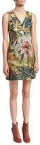 ADAM by Adam Lippes Sleeveless Jungle-Print Mini Dress, Multi