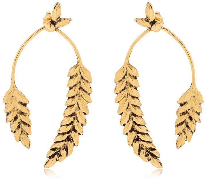 Aurelie Bidermann Wheat Earrings