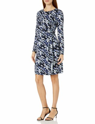 Lark & Ro Amazon Brand Women's Long Sleeve Faux Wrap Dress