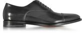 Santoni Wilson Black Leather Oxford Shoes