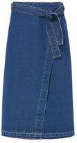 Tu clothing Mid Denim Blue Denim Wrap Skirt