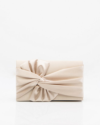 Le Château Pleated Satin Flapover Clutch