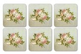 Pimpernel Antique Rose Coasters Set of 6