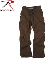 Rothco Chocolate Paratrooper Cargo Pants, Washed For A Retro Look And Feel