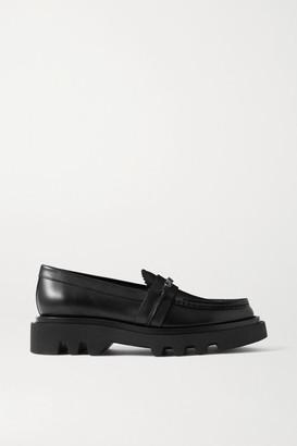 Givenchy Elba Logo-embellished Leather Platform Loafers - Black