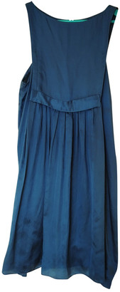 Masscob Blue Silk Dress for Women Vintage