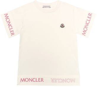 Moncler Enfant Logo stretch-cotton jersey T-shirt