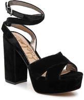 Sam Edelman Women's Mara Velvet Platform Sandal
