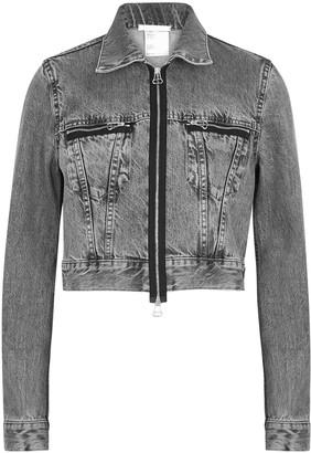 Helmut Lang Grey cropped denim jacket
