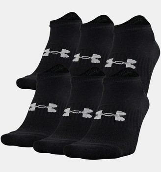 Under Armour Unisex UA Training Cotton No Show 6-Pack Socks