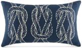 "Tommy Hilfiger Closeout! Robinson Knots Navy 12"" x 20"" Oblong Decorative Pillow Bedding"