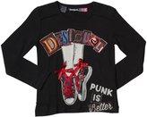 Desigual Knitted T-Shirt (Toddler/Kid) - Negro-3/4 Years