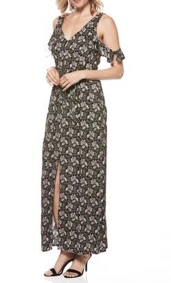 Paige Lystra Floral Cold Shoulder Maxi Dress