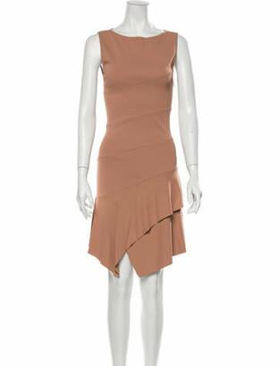 Alaia Bateau Neckline Knee-Length Dress Pink