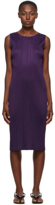 Pleats Please Issey Miyake Purple New Colorful Basics 2 Tank Dress