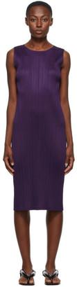 Pleats Please Issey Miyake Purple New Colorful Basics 2 Tank Dress