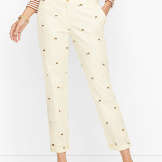 Talbots Relaxed Chinos - Embroidered Elephant