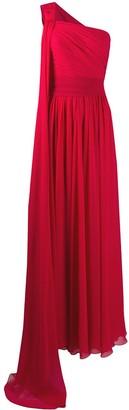 Elie Saab Draped One-Shoulder Gown