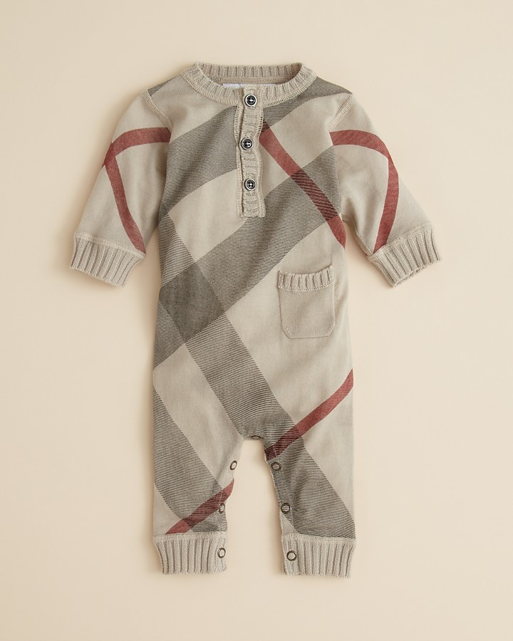 Burberry Infant Boys' Knit Coverall - Sizes 3-18 Months
