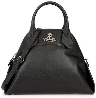 Vivienne Westwood Windsor medium black leather top handle bag