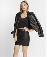 Express black minus the leather with spikes mini skirt
