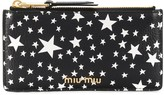 Miu Miu star print zipped purse