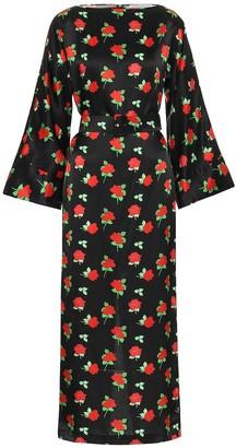 BERNADETTE Jackie floral satin midi dress